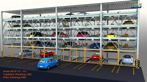 Puzzle Type Car Parking System Lateral And Ve