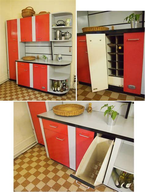 meuble cuisine retro meubles cuisine formica chaises tables chariot meubles de rangement luckyfind