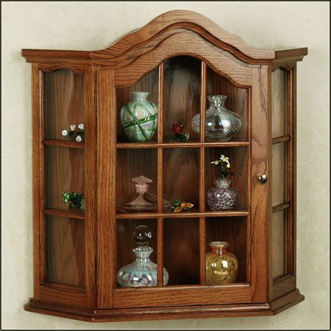 small wall curio cabinet minimalist classic living room with brown wall mounted