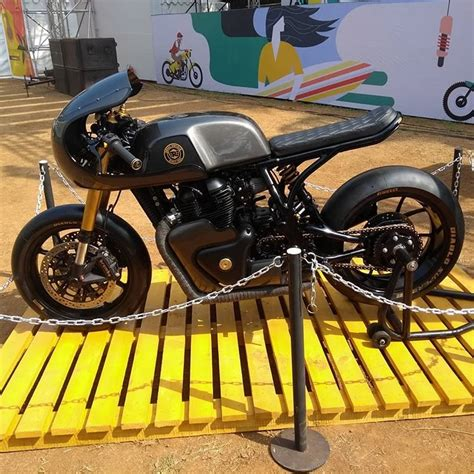 Royal Enfield Continental Gt 650 Modification by Custom Royal Enfield Continental Gt 650 By Rajputana Customs