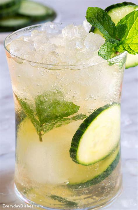 green tea cucumber cocktail recipe  summer