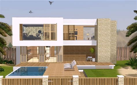 simple sims modern house plans ideas photo the sims 3 modern house 1080p