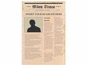 editable newspaper template portrait With old newspaper template word free