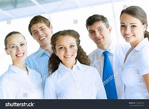 Portrait Happy Young Business Team Work Stock Photo ...