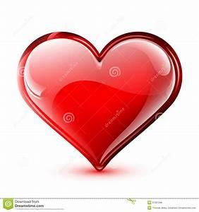 Shiny Vector Heart Stock Vector  Illustration Of Isolated