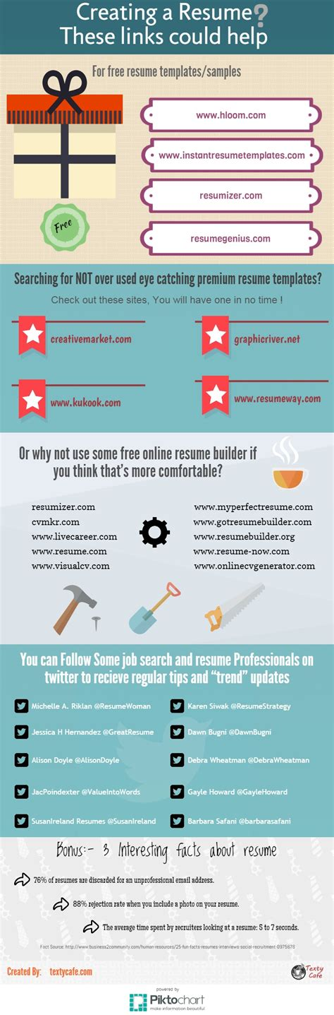 how to make a resume infographic by textycafe http