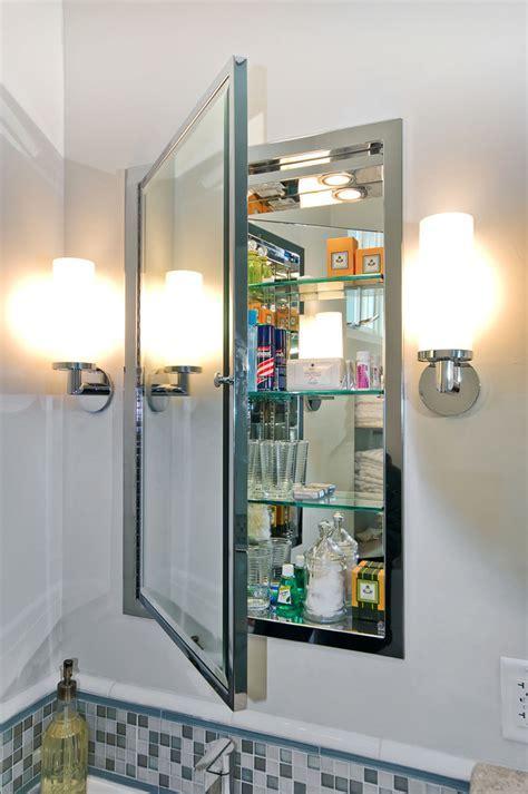 recessed medicine cabinet mirror Bathroom Contemporary