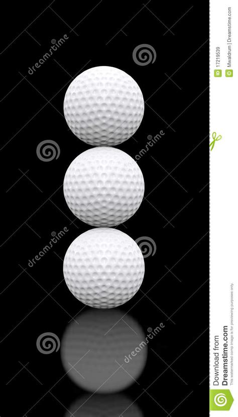 stacked ball floor l golf balls stacked three high stock illustration