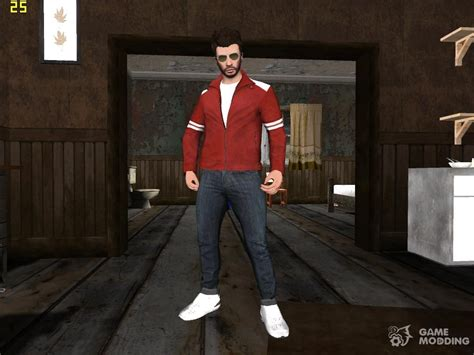 Skin Gta V Online Hd In Red Jacket For Gta San Andreas