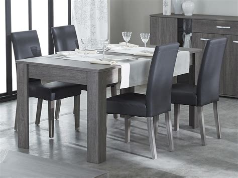 chaises pour salle manger chaise de salle à manger en polyuréthane et bois lot de 2