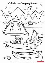 Coloring Activity Pages Camping Activities Worksheets Preschool Printables Campfire Printable Smores Theme Crafts Sheets Sheet Kindergarten Scholastic Fun Children Pdf sketch template