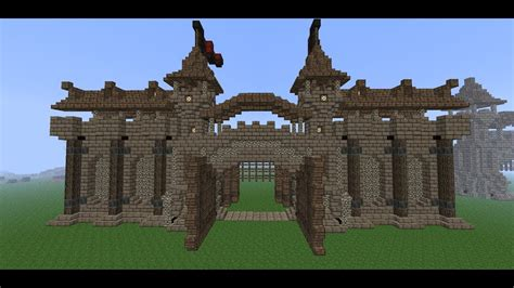 minecraft medieval wall tutorial   build  wall part  wall details youtube