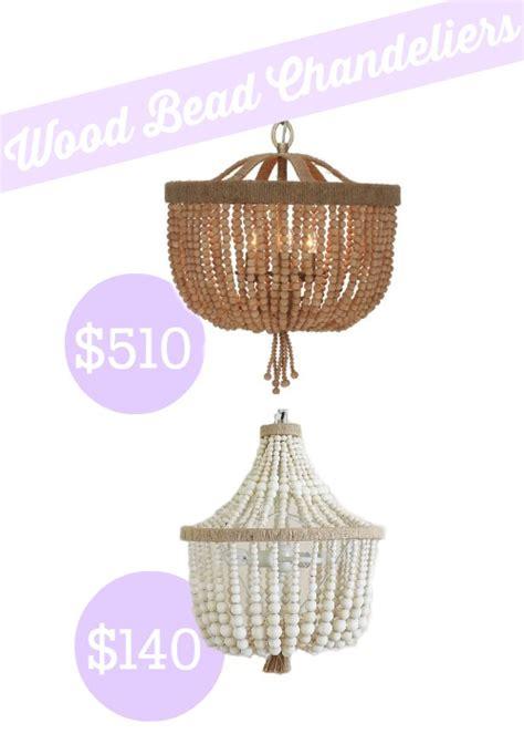 shades of light wood bead basket chandelier look alike