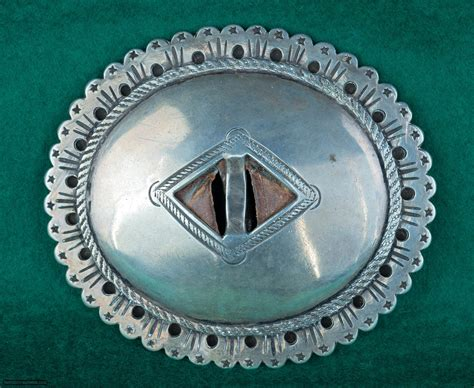 navajo  phase silver concho belt
