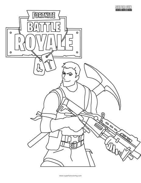 fortnite battle royale super fun coloring