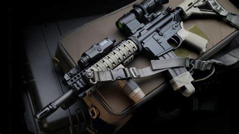 wallpaper  carbin assault rifle military