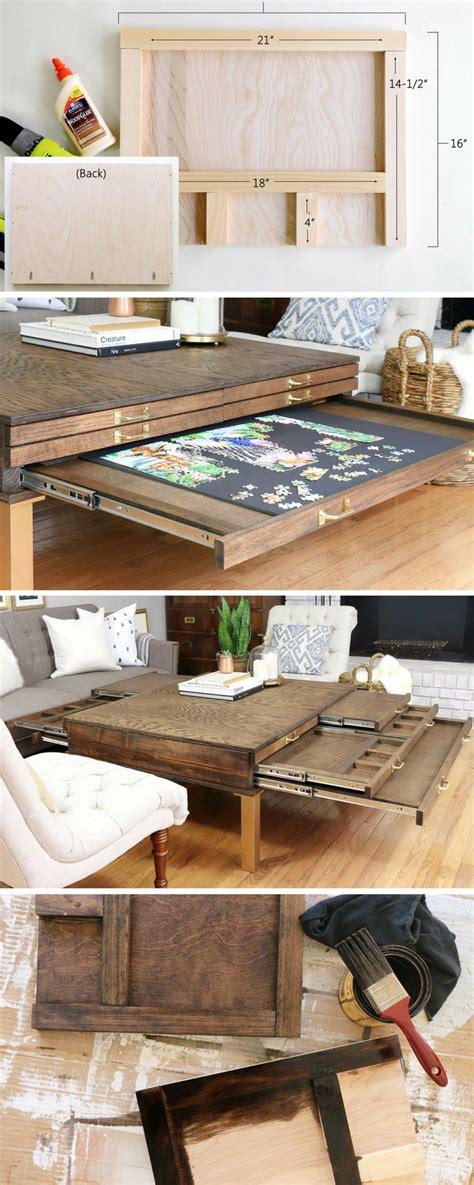 build  diy coffee table  pullouts  board