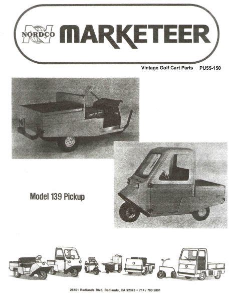 Parts Manual Vintage Golf Cart Inc