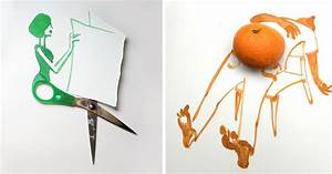 20 Creative Drawings Completed Using Everyday Objects By ...