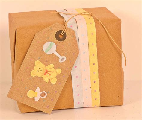 baby shower wrapping ideas baby shower gift wrapping kraft paper