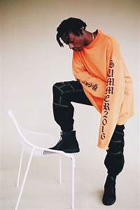 Joey Badass Poses For SSENSE In Vetements T-Shirt And Hoodie | UpscaleHype