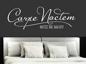 Wandtattoo Carpe Noctem : wandtattoo spruch carpe noctem von klebeheld de ~ Sanjose-hotels-ca.com Haus und Dekorationen