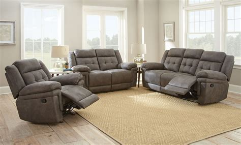 Sofa Loveseat And Recliner Sets by Reclining Sofa Seat Set Brown S Furniture