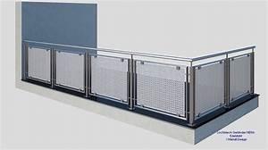 franzosischer balkon lochblech md06a edelstahl design With französischer balkon mit schneider sonnenschirme werksverkauf