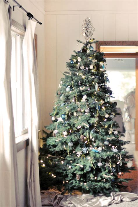 rustic christmas trees my diy rustic christmas tree in blues browns love maegan
