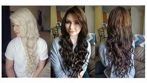 How I Dyed My Hair From Blonde To Brown Some Random