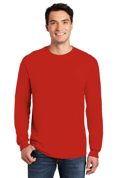 Gildan® - Heavy Cotton™ 100% Cotton Long Sleeve T-Shirt | Gildan | Brands | Online Apparel Market