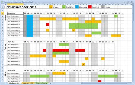 ansprechender excel urlaubskalender fuer den arbeitsplatz