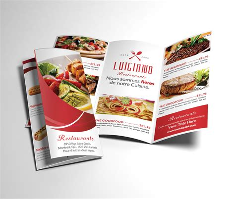 Tri Fold Restaurant Menu Templates Free by Restaurant Menu Tri Fold Brochure Brochure Templates