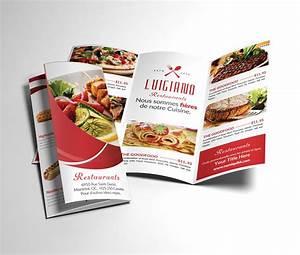 restaurant menu tri fold brochure brochure templates With 3 fold menu template