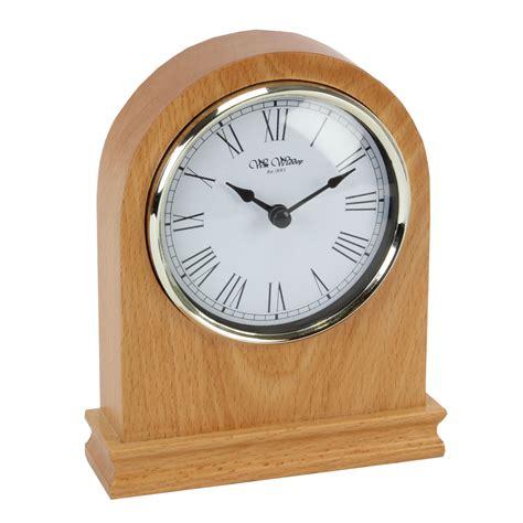 wood mantel clocks wm widdop arched light wood mantel clock