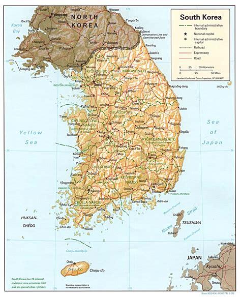 maps  south korea