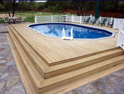 Building Wooden Steps For Above Ground Pool