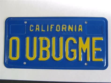California Licence Plate Search by 70 S Era Personalized Vanity California License Plate Quot O U
