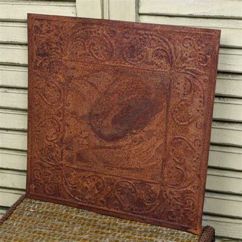 vintage inspired tin scroll embossed ceiling tile