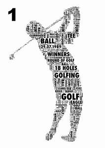how to make party invitations on word golfer personalised sports word art three poses by unique