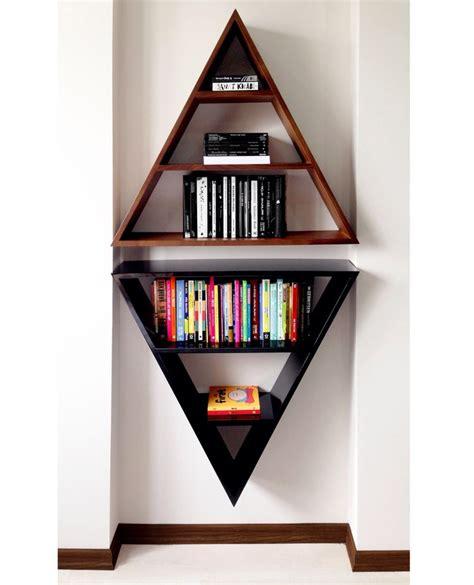 triangle bookshelf ideas  pinterest glendale library unique shelves  unique