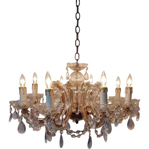 italian murano glass chandelier w prisms venetian
