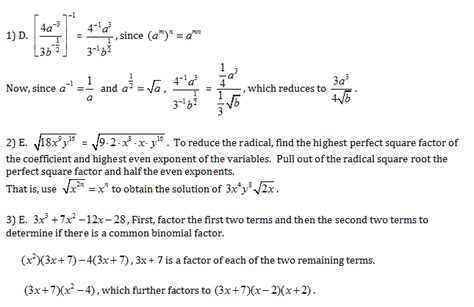 CLEP College Algebra Practice Test Questions - Study Guide