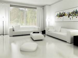 White, Living, Room, Ideas, With, Calm, And, Relaxing, Nuance