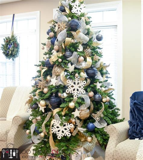 christmas tree  navy gold  white christmas