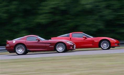 Dodge Viper Vs Corvette Z06 by 08 Viper Srt10 Vs 07 Corvette Z06 The