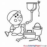 Plumber Coloring Pages Drawing Getdrawings Sheets Sketch Template sketch template