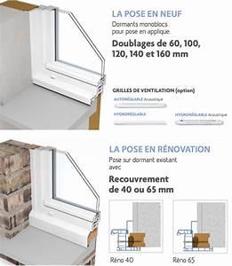 Pose Fenetre En Feuillure : fen tre pvc 1 vantail sur mesure gamme softline pose en ~ Dailycaller-alerts.com Idées de Décoration