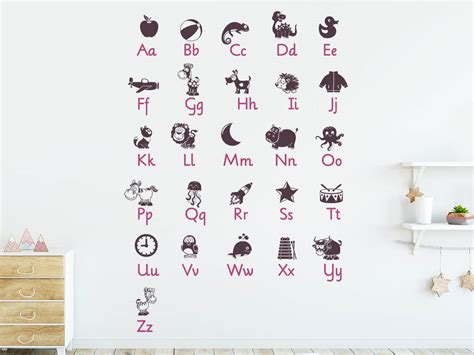 Wandtattoo Kinderzimmer Buchstaben by Wandtattoo Alphabet Abc Zum Lesen Lernen Wandtattoos De