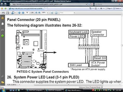 Need Wiring Diagram For Front Panel Asus Fixya
